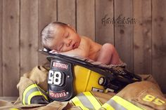 Firefighter baby pics
