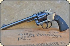 """A nice 1904 New Service .45 COLT revolver with 7-1/2"""" barrel. Available at River Junction 2015 list price $2200. It is only missing a nice holster made by Circle KB :)"""