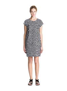 Marimekko Apparel - Voda Dress - White/Black – Kiitos living by design Marimekko Dress, Blue Dresses, Dresses For Work, Scandinavia Design, Blue And White, Black, Fashion Bags, Dresser, White Dress