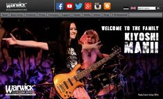 Kiyoshi on the front page of Warwick Bass ( Framus Warwick Guitars ) August 16, 2016