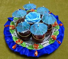 Basket wedding ideas shower gifts 35 Ideas for 2019 Naming Ceremony Decoration, Marriage Decoration, Wedding Plates, Wedding Art, Wedding Ideas, Indian Wedding Gifts, Indian Wedding Decorations, Thali Decoration Ideas, Basket Decoration