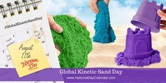 Global Kinetic Sand Day - August 11th National Day Calendar, Daughters Day, Sand Play, World Days, National Days, Kinetic Sand, Good Housekeeping, Indoor Activities, Quality Time