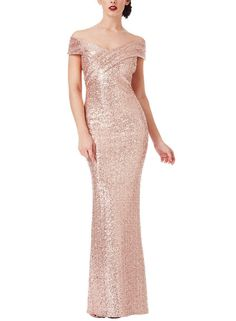Cross Over Sequin Gown – My Royal Closet