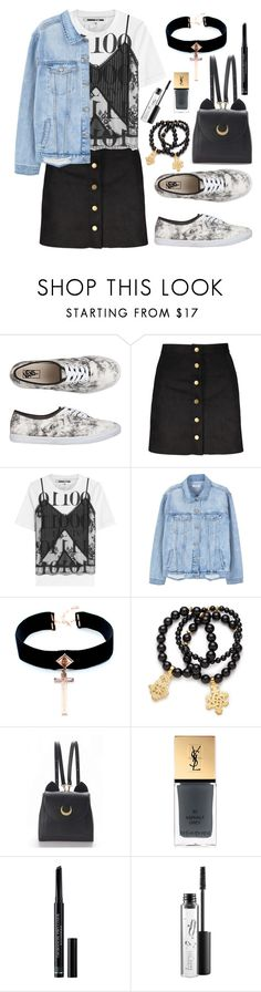 """Acid Wash Vans"" by wolfiexo ❤ liked on Polyvore featuring Vans, McQ by Alexander McQueen, MANGO, VSA, Pembe Club, WithChic, Yves Saint Laurent, Christian Dior and MAC Cosmetics"