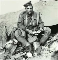 Soldier from what I believe to be an Australian regiment with a collection of…