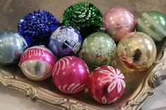 vintage christmas ornaments.... I bought some just this year! Love them!