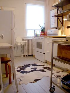 Love The Small Cowhide Rug In Kitchen