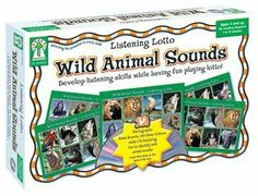 Wild Animal Sounds Board Game - students listen to a CD and place tokens on the animal sound they just heard. Wild Animal Sounds, Play Lotto, Crocodile Party, Snake Party, Reptile Party, Classroom Bulletin Boards, Card Games, Game Cards, Craft Activities For Kids