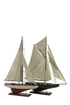 Antiqued Sailing Vessels