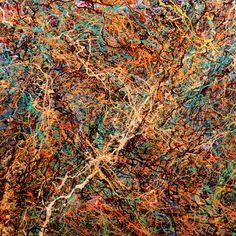 "Saatchi Online Artist Tehos Frederic CAMILLERI; Painting, ""Tehos - Abstraction P418 - Sold"" #art"