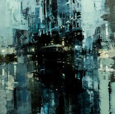ぼんやり美しい。朧げに描かれる都市景観の油絵作品 (3)