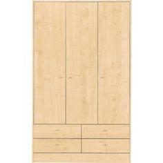 Buy Malibu 3 Door 4 Drawer Wardrobe - Maple Effect at Argos.co.uk - Your Online Shop for Wardrobes. Wardrobes, Tall Cabinet Storage, Drawers, Argos, Basement, Stuff To Buy, House, Shopping, Furniture