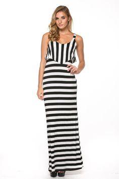 Beach Ready Striped maxi dress