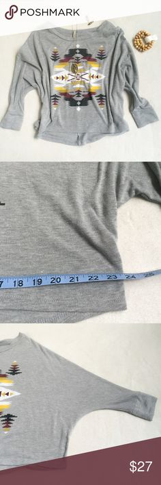 Paper Crane (Anthropologie) Boho Dolman Crop Paper Crane (Anthropologie) Boho Dolman Crop. Like new condition. One Size- see measurements. Soft t-shirt cotton. Anthropologie Tops Crop Tops