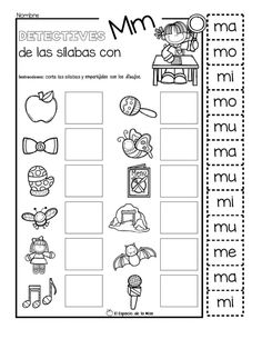 Detective-de-Palabras_page-0002 – Imagenes Educativas Spanish Teacher, Spanish Classroom, Spanish Teaching Resources, Teacher Resources, Kids Education, Special Education, Coloring Worksheets For Kindergarten, Handwriting Worksheets, Letter Activities