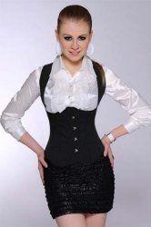 Black Stripes Generous Corset Bustier Tops Dress Without Shirt Cheap