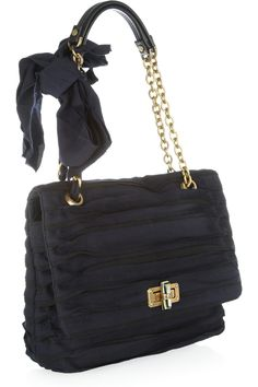 Lanvin|Happy grosgrain shoulder bag|NET-A-PORTER.COM