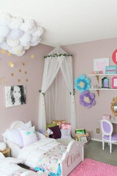 Kids Room Ideas For Girls Toddler For Girls Ideen Und Anleitung Fr Kinderzimmer Deko Selber Machen. 30 Best Kids Room Ideas DIY Boys And Girls Bedroom . Home and Family Bedroom Themes, Bedroom Decor, Wall Decor, Girls Room Paint, Bedroom Girls, Girl Nursery, Girls Bedroom Ideas Paint, Nursery Room, Bedroom Sets