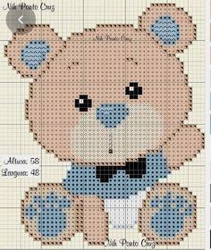 Baby Cross Stitch Patterns, Cross Stitch Charts, Valentine Gift Baskets, Knit Baby Sweaters, Cross Stitch Animals, Cross Stitching, Baby Knitting, Hand Embroidery, Needlework