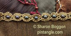 A stitch tutorial on how work buttonholed cable chain stitch