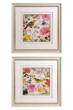 "Happy Garden Framed Prints - Set of 2 on HauteLook $79, set of two 27"" square."