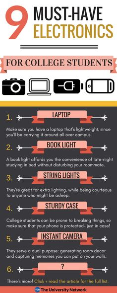 9 Must-Have Electronics to Make College Easier! | The University Network