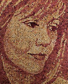 Artist Creates Stunning Portraits With Old Wine Corks