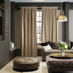 If you're looking to create your own secret escape to the rolling hills and valleys, then these ever so rustic Harrow Oatmeal curtains will get you there in no time at all.