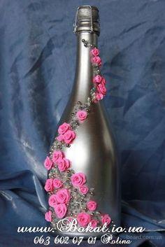 оформление бутылок шампанского на свадьбу своими руками мастер класс: 18 тыс изображений найдено в Яндекс.Картинках