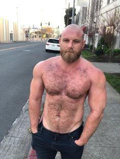 A Celebration of the Hairy Man Scruffy Men, Hairy Men, Bearded Men, Bald With Beard, Bald Men, Hunks Men, Awesome Beards, Raining Men, Muscular Men