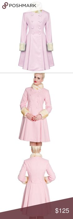 Hell Bunny Trixie Trixi Pink Pastel Winter Coat NWT. Such a cute winter coat! Open to offers. Sold out everywhere! No trades! ✨ Hell Bunny Jackets & Coats Trench Coats