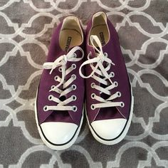 Adorable purple converse Previously loved purple converse all stars. Still have ALOT of life. I hardly wore them, so time for someone else to love them. Converse Shoes Sneakers