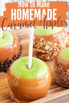 Making caramel apples at home is so much fun and simple too! Just follow these simple steps and you will be enjoying the most delicious homemade caramel apples. #howto #homemadecaramelapples #caramelapples #caramelapplesrecipe #fallrecipes #falldesserts #applerecipes