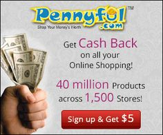Get a $5 Credit At Pennyful...plus get cash back on purchases!