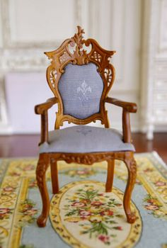 "Sewing Room Wicker Rocking Chair DOLLHOUSE FURNITURE 1//12 or 1/"" Scale BESPAQ"