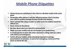 Etiquette By Vicky Mallick & Yogeshwar Rao Phone Etiquette, Film Song, Workplace, Songs, Song Books