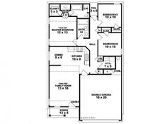 planos de casas pequenas de un solo nivel