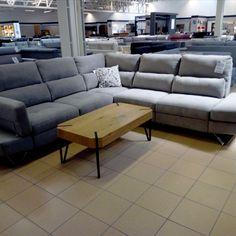 Odpoczynek?Czemu nie! Na tym ogromnym i wygodnym narożniku Evolution od producenta Feniks to sama przyjemność 🛌  A Ty, poleżałabyś w poniedziałek? ⤵  👉 Narożnik w tkaninie Pepe 114 znajdziesz w Salonie Meble Olimp w Gnieźnie 👈 Couch, Furniture, Home Decor, Settee, Decoration Home, Sofa, Room Decor, Home Furnishings, Sofas