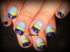 nail art   bathroom rubber ducks by lela from Nail Art Gallery