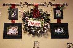 love this wreath w/ peppermint balls!