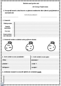 Balada unui greier mic-p.1 Alphabet Games, Worksheets For Kids, Speech Therapy, Coloring Pages, Kindergarten, Georgia, Teacher, Activities, Learning