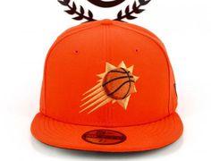 Phoenix Suns Orange 59Fifty Fitted Baseball Cap by NEW ERA x NBA