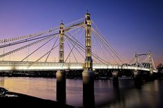 Special place for me. Albert Bridge, London. It's just magical.