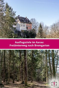 Ausflugsziele im Aargau: auf dem Freiämterweg nach Bremgarten S Bahn, Switzerland, Travelling, Places To Go, Wonderland, Mansions, House Styles, Decor, Kinds Of Birds