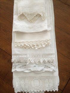 Vintage white linens