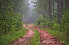 Civil war red dirt road...