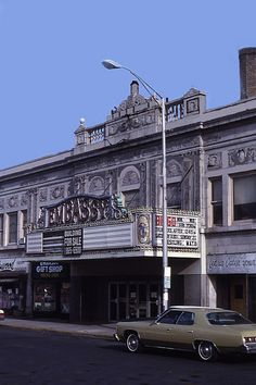 Photo of Embassy Theatre in North Bergen, NJ Jersey Girl, New Jersey, Movie Theater, Theatre, North Bergen, Local Movies, Building, Youth, Sign