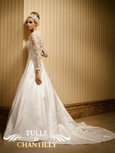 Style # TBQW036    Sexy translucent lace embroidery back    $520.00