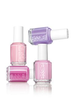 Pretty pastel pink & purple nail polish for spring.