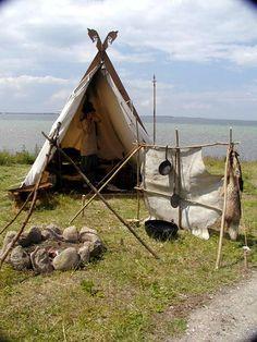 Viking camp at the seaside...